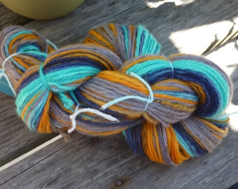 PREP SCHOOL - 273 yards Chain Plied Handspun Merino DK weight yarn