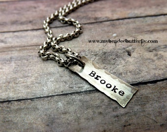 Mens necklace-personalized necklace-mens initial--GPS-dad necklace
