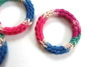 Cat Ferret Toys Toy Recycled Rings Handmade Michigan Blue Pink Red Green Tan Brown