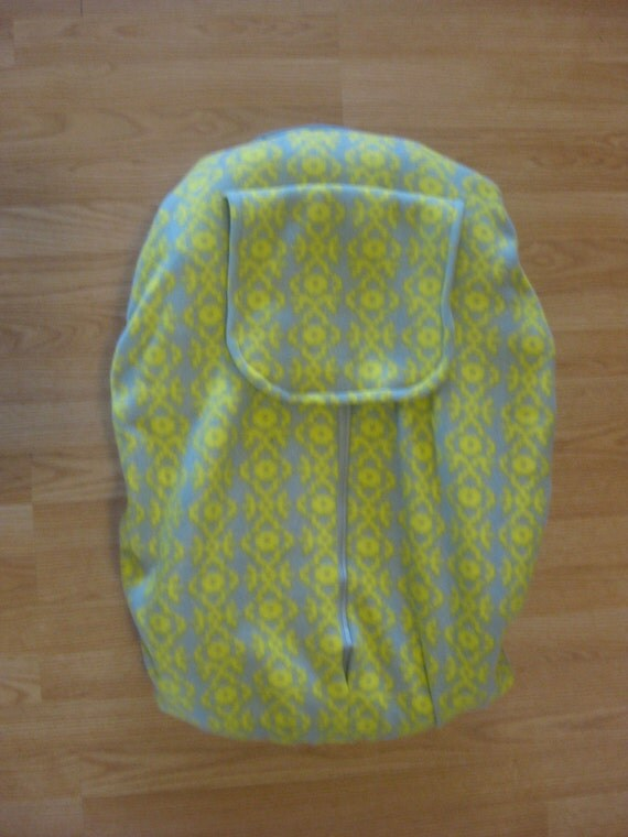 Chartreuse Pattern Fleece Infant Car Seat Cover
