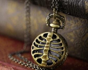 Brass Pocket Watch Necklace number 12