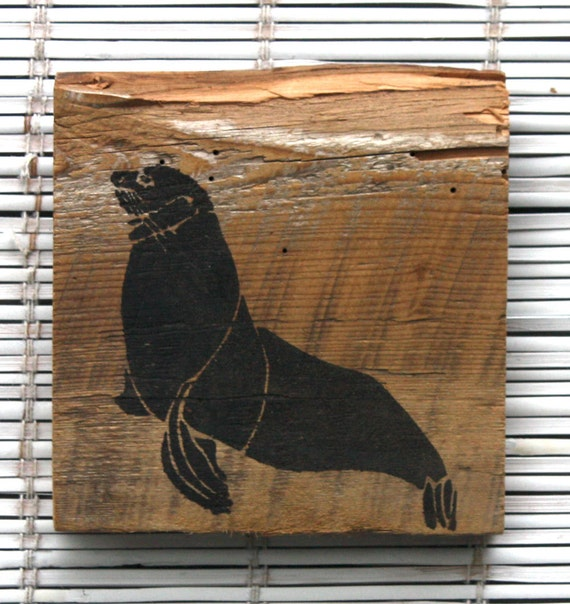 Seal Wall Hanging On Reclaimed Barn Wood