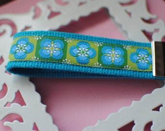 Blue and Green Flower Key Fob-Limited Qty