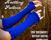 Rosetta Armwarmers Knitting Pattern -- feminine fingerless gloves / PDF document / instant digital download