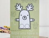 Reindeer Finger Puppet Christmas Card
