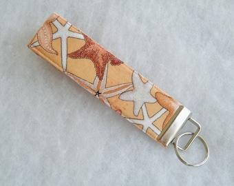 Key Fob wristlet - Starfish