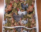 MadieBs Free Range Chickens Cotton  Print Smock Cobbler Style Apron New Custom made