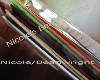 BeadBacking Nicoles Sample Kit Bead Embroidery Soutache Beading 16 Colors