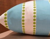 Add Personalization - DESIGNER Pet Bed Duvet Cover - Stuff with Pillows - YOU Choose Fabric - Lulu Girly Blue/Chartreuse shown