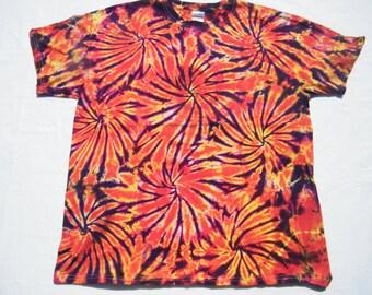 tie dye Orange Fireworks Shirt tye die CUSTOM MADE to order