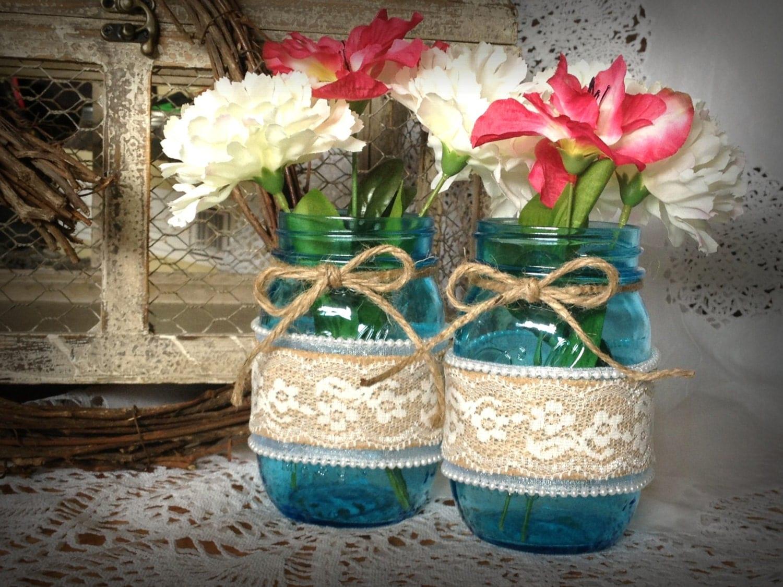 decorated mason jars wedding mason jarsvintage mason jars. Black Bedroom Furniture Sets. Home Design Ideas