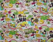 Kawaii Anime Hawaii Favorites Pink Fabric - Half Yard