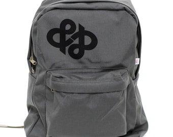Backpack Ampersand Infinity, Rucksack, Nylon School Backpack, Laptop Backpack,Typography, Black Backpack, Mens Backpack, Womens Backpack