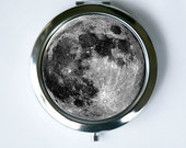 Full Moon Compact MIRROR Pocket Mirror outer space