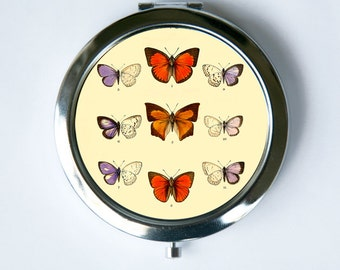 Butterflies Compact MIRROR Pocket Mirror butterfly hipster pretty