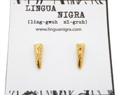 Gold Claw Post Earrings - Vermeil