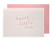 Little One Girl Letterpress Card