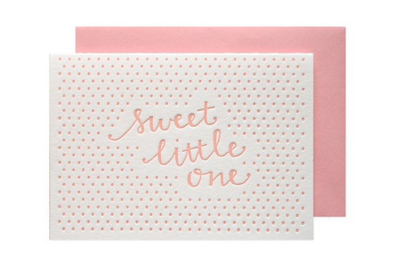 Little One Girl Letterpress Card