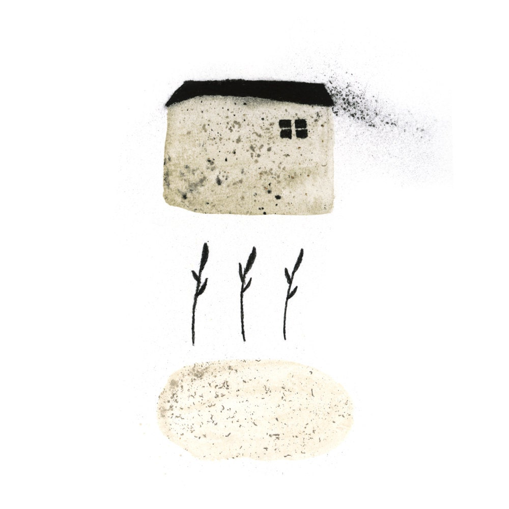 House and Garden #illustration digital print
