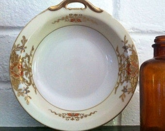 Vintage Noritake Cream Peach Gold 6 Inch Bowl M Japan Numbered epsteam