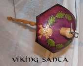 Viking Santa Drop Spindle ( EDS 0559 ) Leather whorle