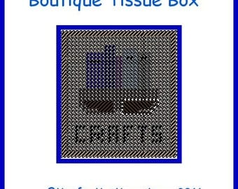 Crafts Boutique-size Tissue Box Cover  plastic canvas pattern