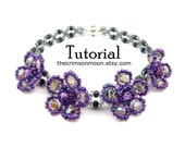 Beading Pattern, Beaded Bracelet, FLOWER CHILD, Beading Pattern, Beadweaving Instructions