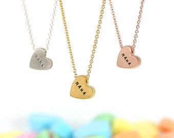 conversation heart necklace - MAMA