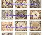 Dollhouse Miniature Antique Celestial Maps - Printable Digital