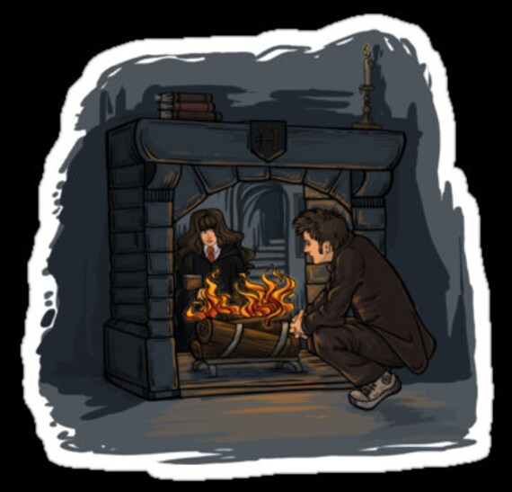 The Witch In the Fireplace sticker - April Indie Shopping