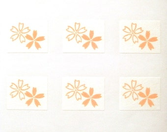 Japanese Stickers Cherry Blossoms Flowers Washi Paper (S210) Traditional Design Stickers