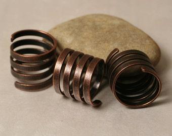 Antique copper spiral ring, one piece (item ID ACHN00484)