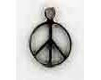 Sterling Silver Peace Symbol Charm / Pendant G1546