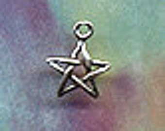 Small Sterling Silver Star Celestial Themed Jewelry Cele038