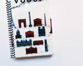 Europe Traveler Notebook, Travel Journal, Writing Journal, Diary Journal, 4x6, Travel Gift, Gift Under 15, Blank Sketchbook, Spiral Notebook