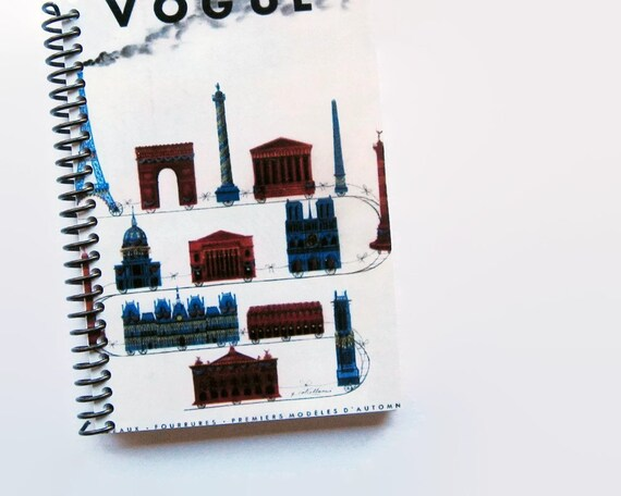 Europe Vacation - Train of Monuments - Notebook Spiral Bound - 4x6in