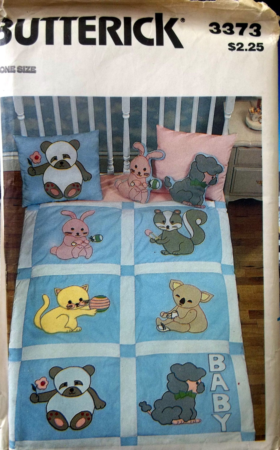 Vintage Baby Animals Crib Quilt Pattern By Andreasneedlework