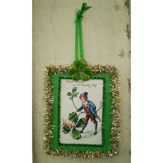 Vintage Style St Patricks Day Decoration Wall Hanging Irish