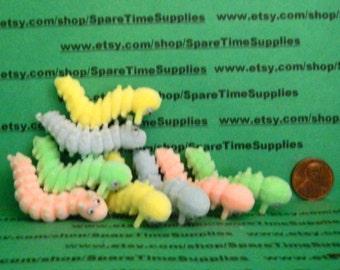 """Fibre Craft - 66172 - Caterpillars - assorted colors - 2"""" - 8 pcs"""