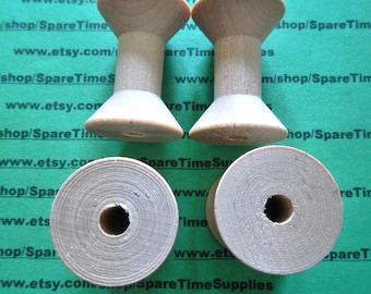 """SP8300WW25  Wood Spools  - 1-15/16"""" tall x 1-3/8"""" wide w/ 5/16"""" hole - 25 pcs"""
