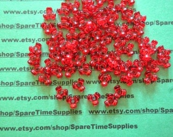 Fibre Craft - 89872-21 Tri Beads - transparent red - 11mm - 420 pcs