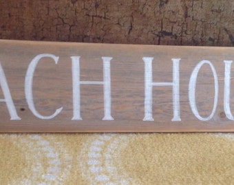 Simply pretty distressed BEACH HOUSE sign
