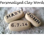 Personalized Clay Words, Memorial Gifts, Wedding Favors, Anniversary Gifts, Custom Handmade Gifts