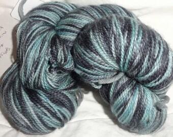 Aidan's Night hand dyed Super Wash Sock 595 yds 4.25 oz