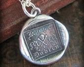 Tiny Skull and Cross Bones Wax Seal Necklace - memento mori jewlelry - historic Ireland Necklace