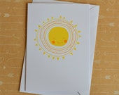 Hello Sunshine - Screenprinted Card
