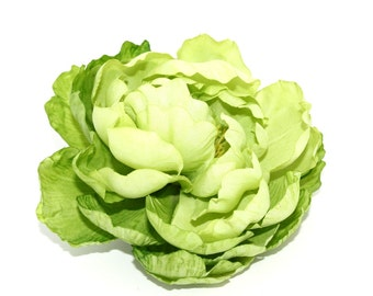Gorgeous Silk Peony in Lime - 5 Inches - silk flowers, artificial flowers, silk flower, artificial flower - ITEM 0396