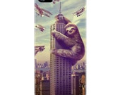 iPhone 5c Case, Slothzilla Phone Case, Sloth