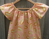 Paisley dress girls sizes made to order