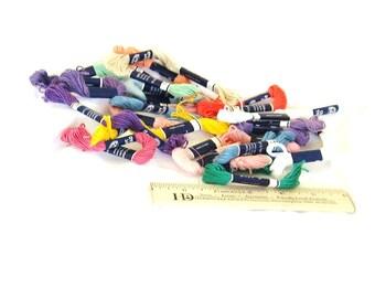 DMC Craft Thread, thread, Cotton, 10 yards each, 17 skeins, C, destash